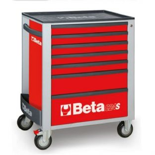 Beta C24S/7-R Mobile Roller Cab With 7 Drawers (Red)